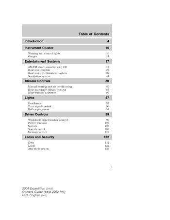 2004 Ford Excursion Owners Manual Pdf (ePUB/PDF)