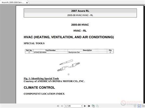 2005 Acura Rl Service Manual Pdf (ePUB/PDF) Free