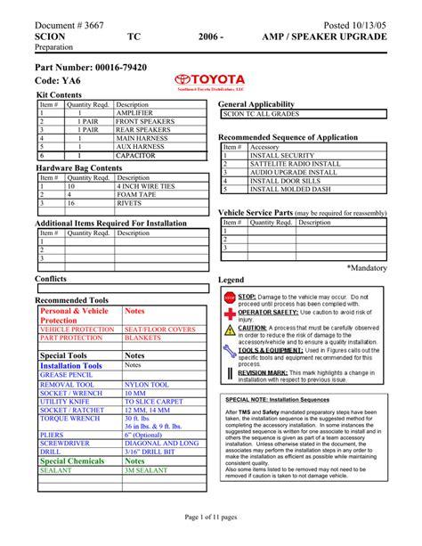 2006 Scion Tc Service Manual (ePUB/PDF)