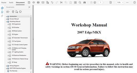 2007 Ford Edge Repair Manual (ePUB/PDF)
