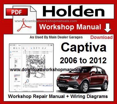 2007 Holden Captiva Workshop Manual (Free ePUB/PDF)
