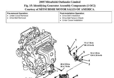 2007 mitsubishi outlander engine diagram