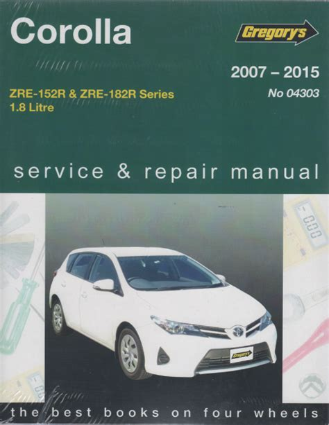 2007 Toyota Corolla Repair Manual (ePUB/PDF)