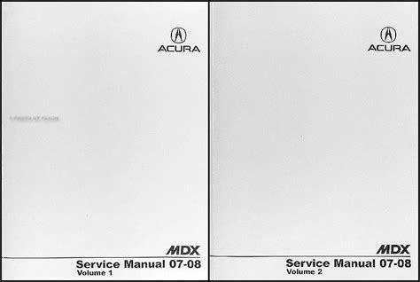2008 Acura Mdx Service Manual Pdf (ePUB/PDF)
