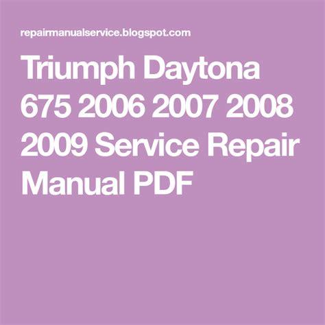 2008 Triumph Daytona Owners Manual (ePUB/PDF)