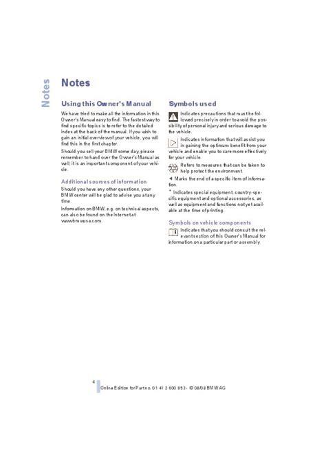 2009 Bmw 135i Owners Manual Set (ePUB/PDF)