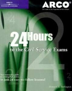 24 Hours To Civil Service Exam 1st Ed Arco Master The Civil Service Exams
