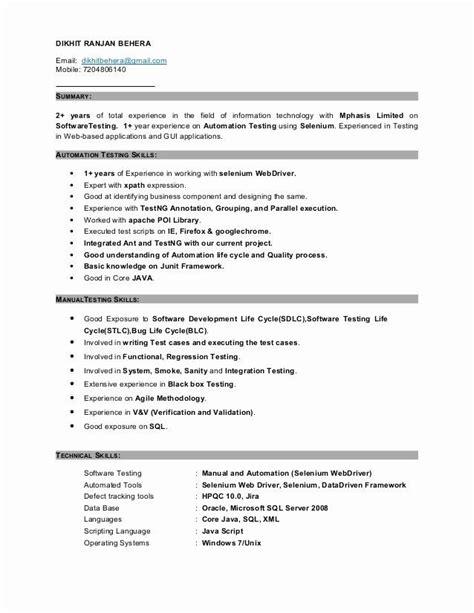 3 Years Manual Testing Resumes (ePUB/PDF) Free
