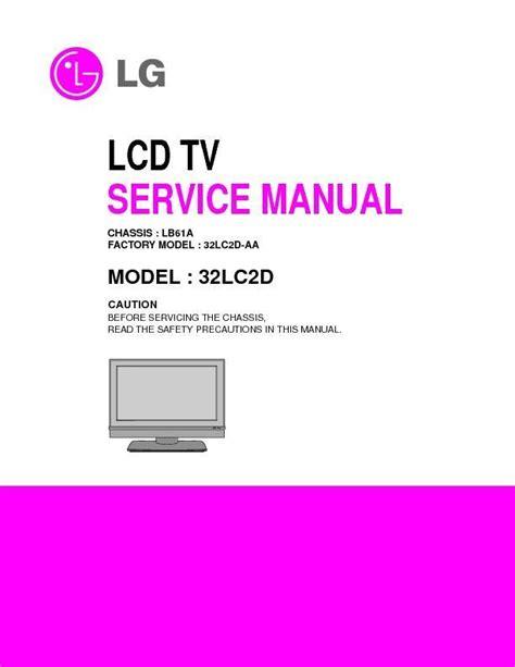 32lc2d Service Manual (ePUB/PDF)