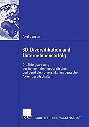 3d Diversifikation Und Unterneherfolg Jansen Axel ... on