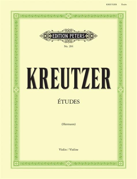 42 Etudes Edition Peters Violon