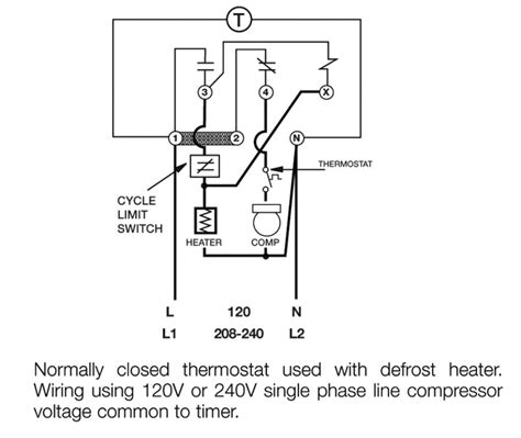 Download 8145 20 Defrost Timer Wiring Diagram With Temp Termination on