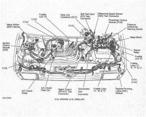 95 aerostar engine diagram