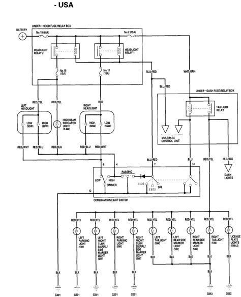 wiring diagram for a honda civic wiring image 97 civic headlight wiring diagram images on wiring diagram for a 97 honda civic