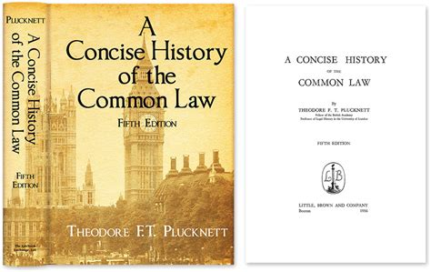 A Concise History Of The Common Law Fifth Edition
