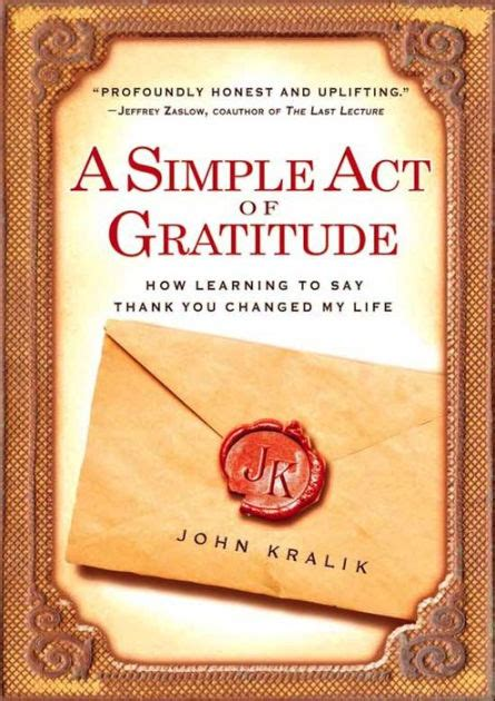 A Simple Act Of Gratitude Kralik John (ePUB/PDF) Free