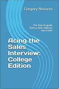 ACING THE SALES INTERVIEW The Guide For Mastering Sales Representative Interviews Sales Interviews