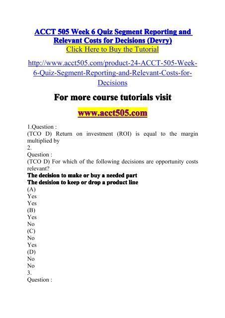 Acct 505 Week 6 Quiz 2 | Pdf/ePub Liry M A Wiring Diagram Instrument Panel on
