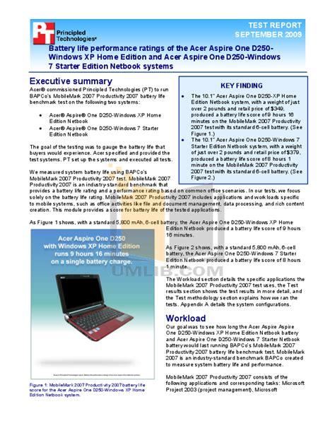 Acer D250 Manual (ePUB/PDF)