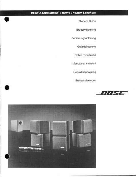 Acoustimass 7 Manual (ePUB/PDF) Free