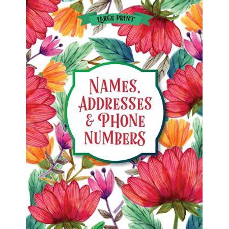 Address Book Roses Large Print Font 8 5 By 11 For Contacts Addresses