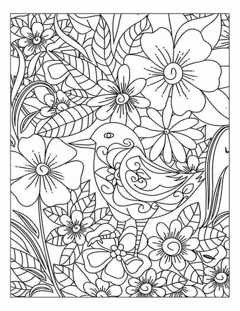 Adult Coloring Book Stress Relief Flower And Nature Pattern Volume 1