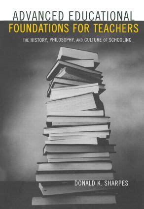 Advanced Educational Foundations For Teachers Sharpes Donald K (ePUB