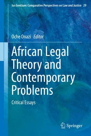 African Legal Theory And Contemporary Problems Onazi Oche (ePUB/PDF
