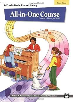 All In One Course For Children Lesson Theory Solo Book 4 Alfreds Basic Piano Library