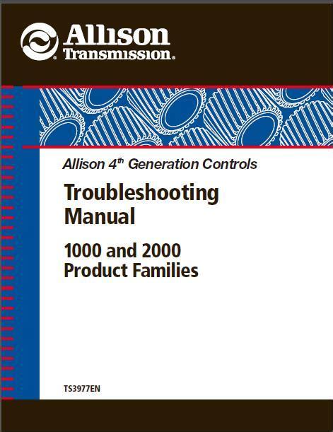 Allison Troubleshooting Manual (ePUB/PDF) Free
