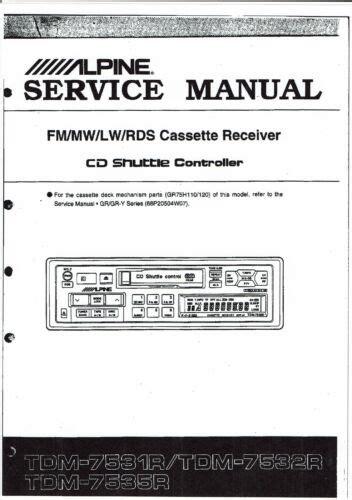 Alpine Service Manuals (ePUB/PDF) Free