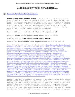 altec bucket trucks wiring diagrams altec bucket truck service manual  epub pdf  free  altec bucket truck service manual  epub