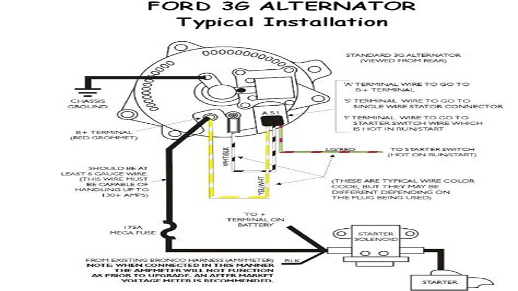 alternator wiring diagram 96 ford explorer