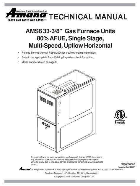 Amana Furnace Manuals (ePUB/PDF) Free