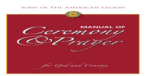 American Legion Prayer Manual ePUB/PDF