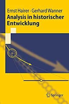 Analysis In Historischer Entwicklung Hairer Ernst Wanner Gerhard ...