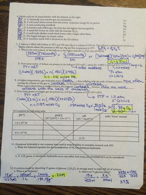 Answers To Chemistry Spring Final Review (ePUB/PDF) Free