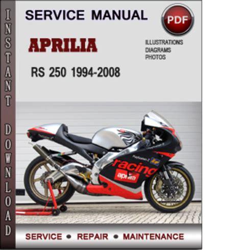 Aprilia Rs250 1994 2008 Service Repair Manual (ePUB/PDF)