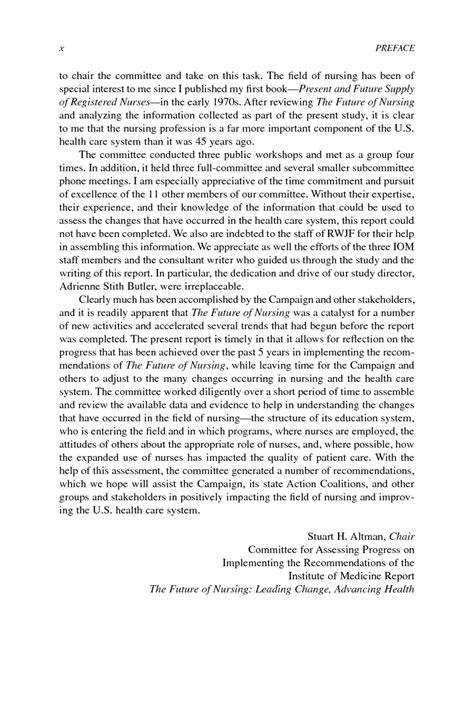 Assessing Progress On The Institute Of Medicine Report The Future Of Nursing