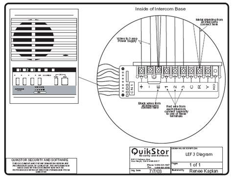 Atlas Intercom Speaker Wiring Diagrams