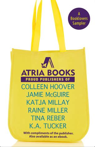 Atria Books A Booklovers Sampler Mcguire Jamie Hoover Colleen Reber