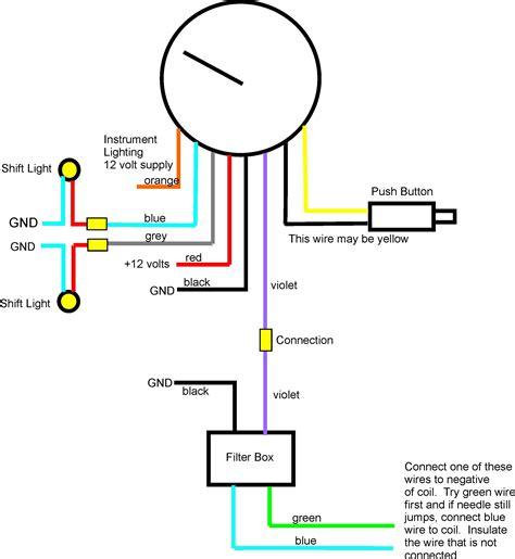 auto meter memory tach wiring diagram