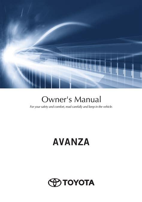 Avanza 2010 Owners Manual (ePUB/PDF)