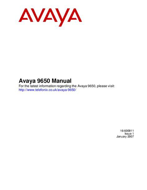 Avaya 9650 Manual (ePUB/PDF)