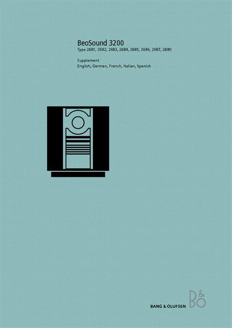 Fantastic Bang And Olufsen 3200 Manual Epub Pdf Wiring Cloud Hisonuggs Outletorg