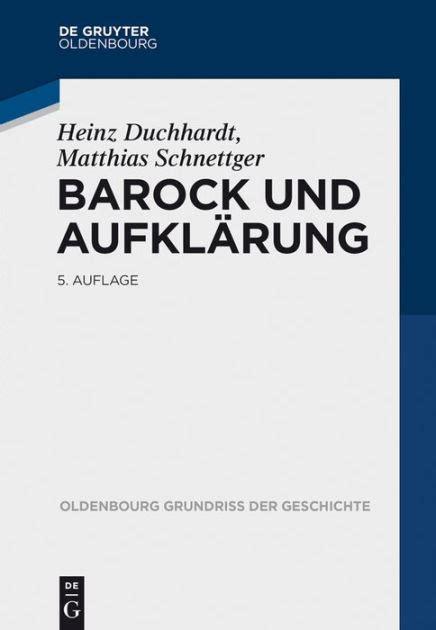Barock Und Aufklrung Duchhardt Heinz (ePUB/PDF) Free