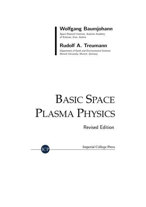 Download Basic Space Plasma Physics Revised Edition From server3ramd