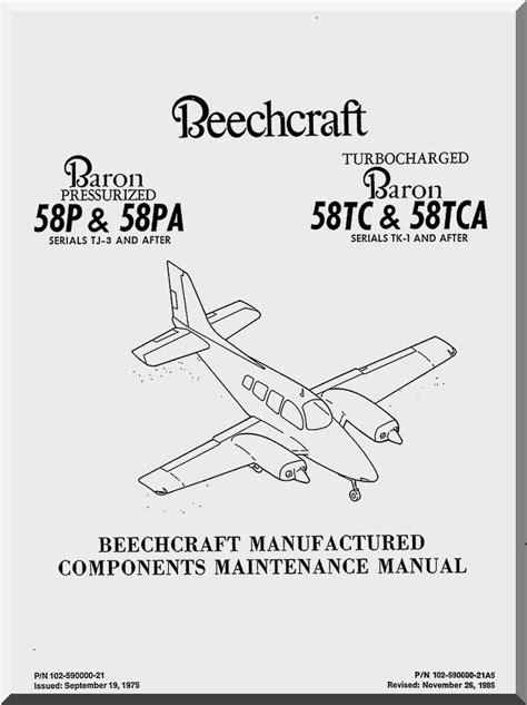 Beechcraft Baron Parts Service Manual B 55 56 58 (ePUB/PDF)