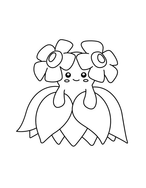 Bellossom Pokemon Coloring Pages