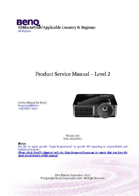 Benq Mp522st Service Manual Level 2 99 Pages (Free ePUB/PDF)